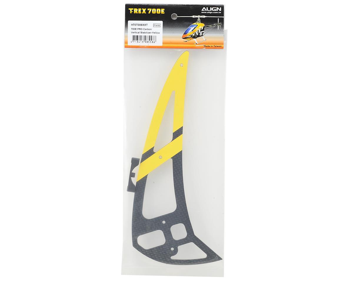 Align 700E PRO Carbon Vertical Stabilizer (Yellow)
