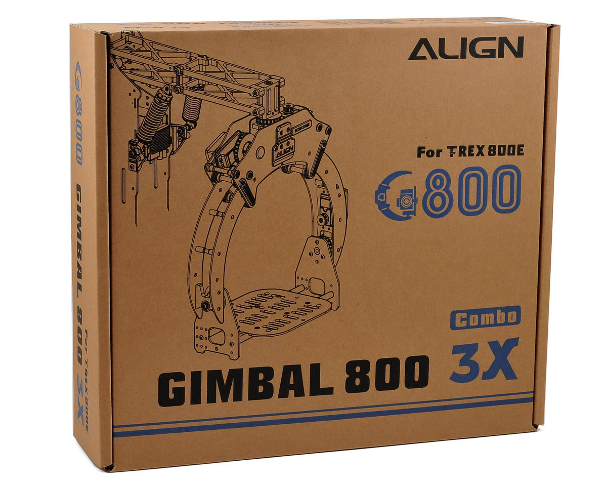 Align G800 Aerial Gimbal System Super Combo w/GS800 Controller & Three DS815 Servos