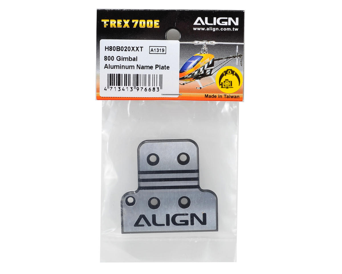 Align G800 Aluminum Gimbal Name Plate