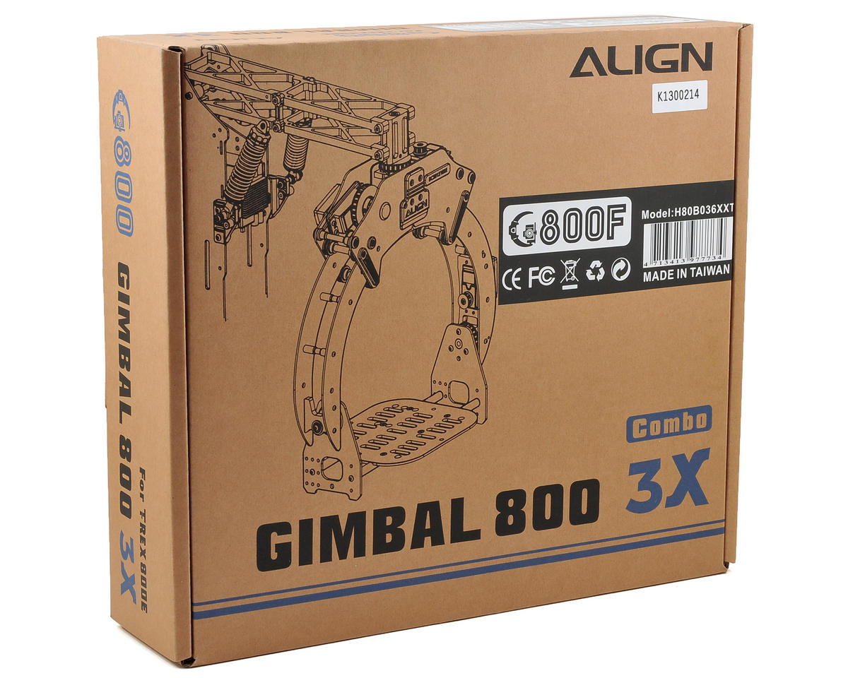 Align G800F Aerial Gimbal System Combo w/GS850 Gimbal Controller & Three DS815 Servos