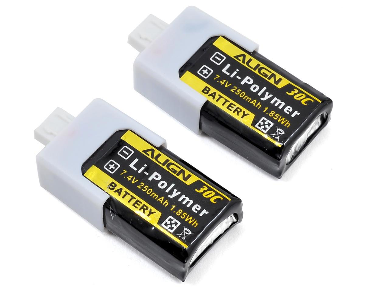 150 2S1P LiPo Battery 30C (2) (7.4V/250mAh) by Align