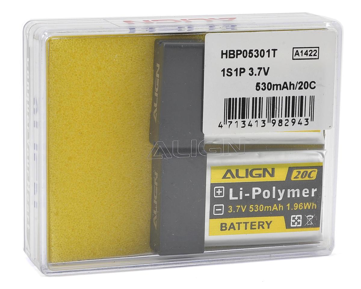 Align 1S1P LiPo Battery 20C (2) (3.7V/530mAh)