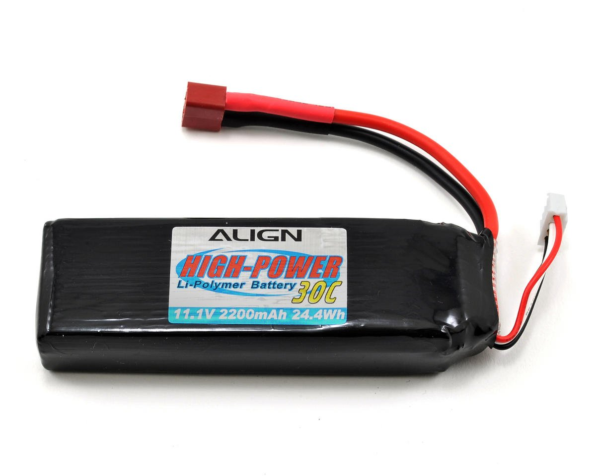 Align T-Rex 450SE 3S1P LiPo Battery 30C (11.1V/2200mAh)