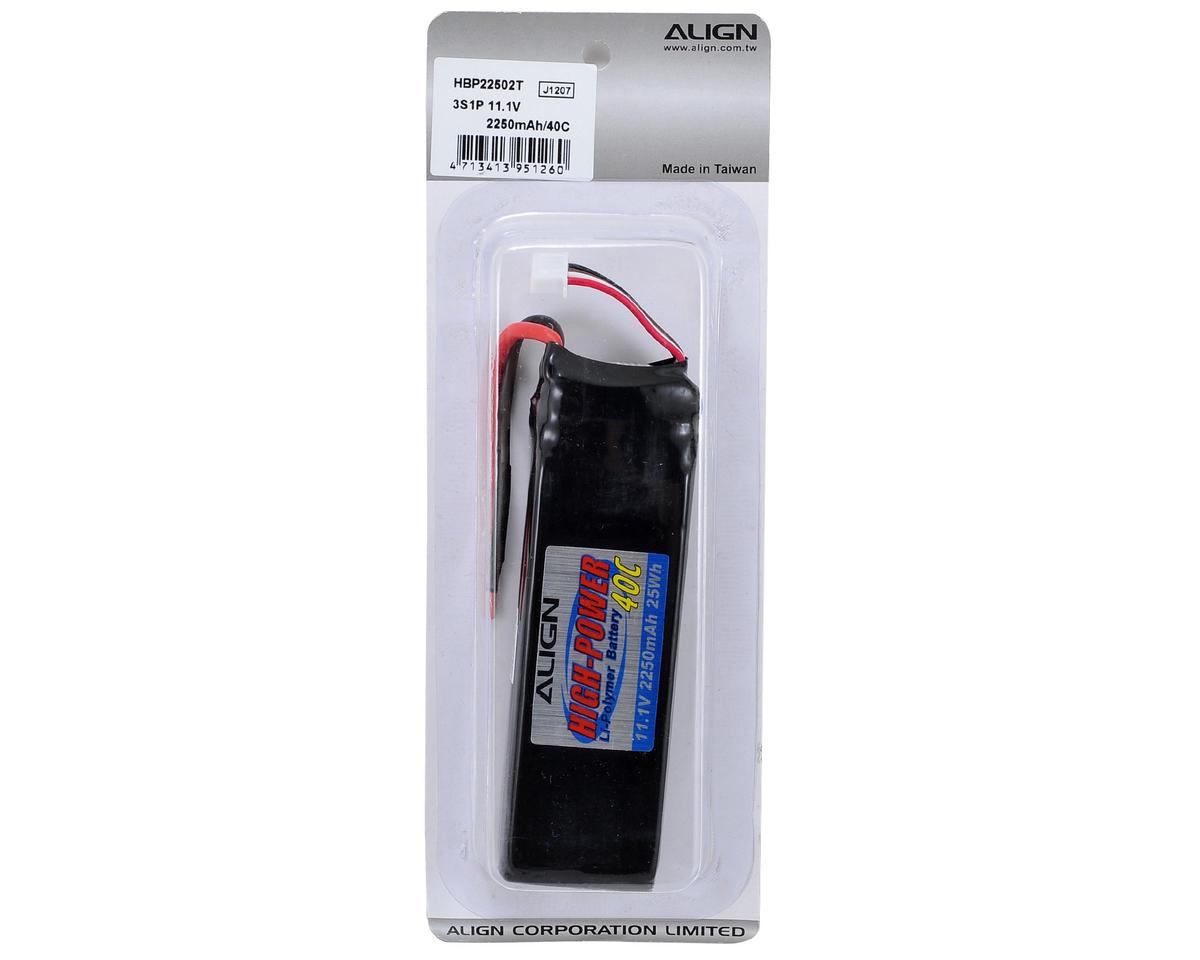 Align 3S1P Li-Poly Battery 40C (11.1V/2250mAh)