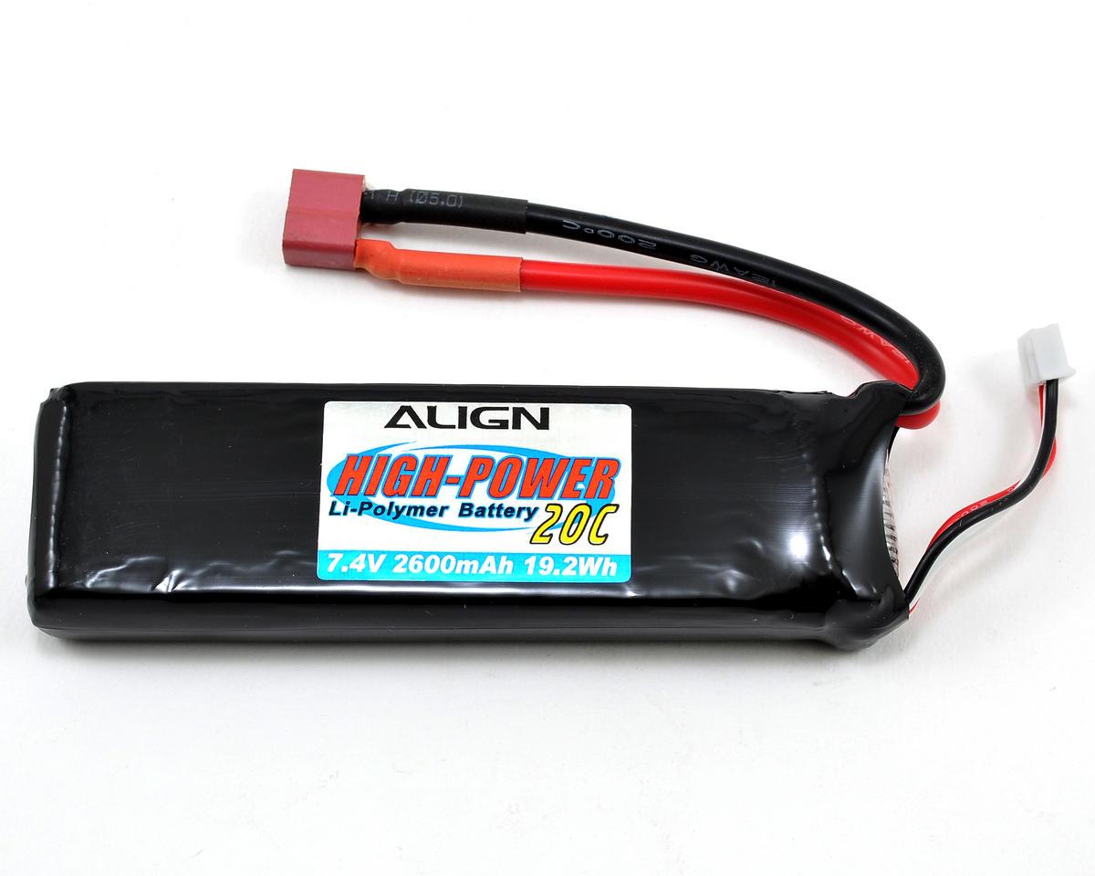 2S1P LiPo Battery 20C (7.4V/2600mAh) by Align