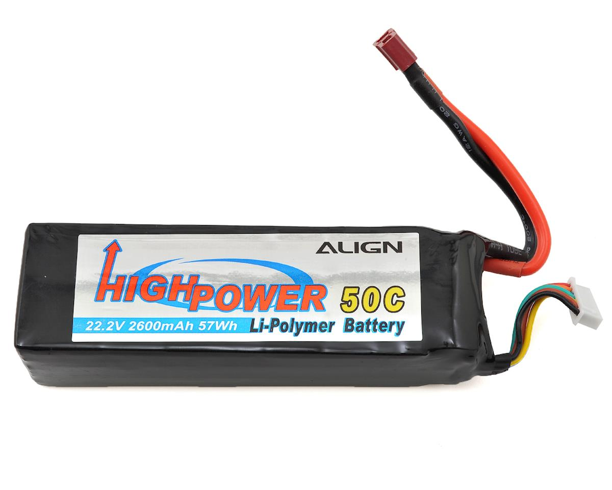 Align T-Rex 500 6S High Power LiPo 50C Battery Pack (22.2V/2600mAh)