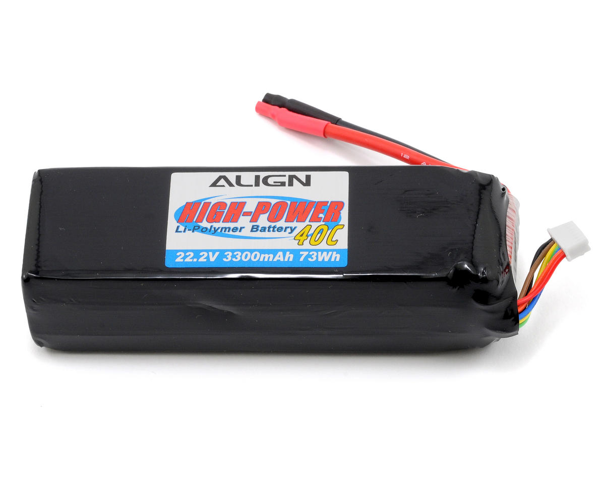 Align 6S1P Li-Poly Battery 40C (22.2V/3300mAh)