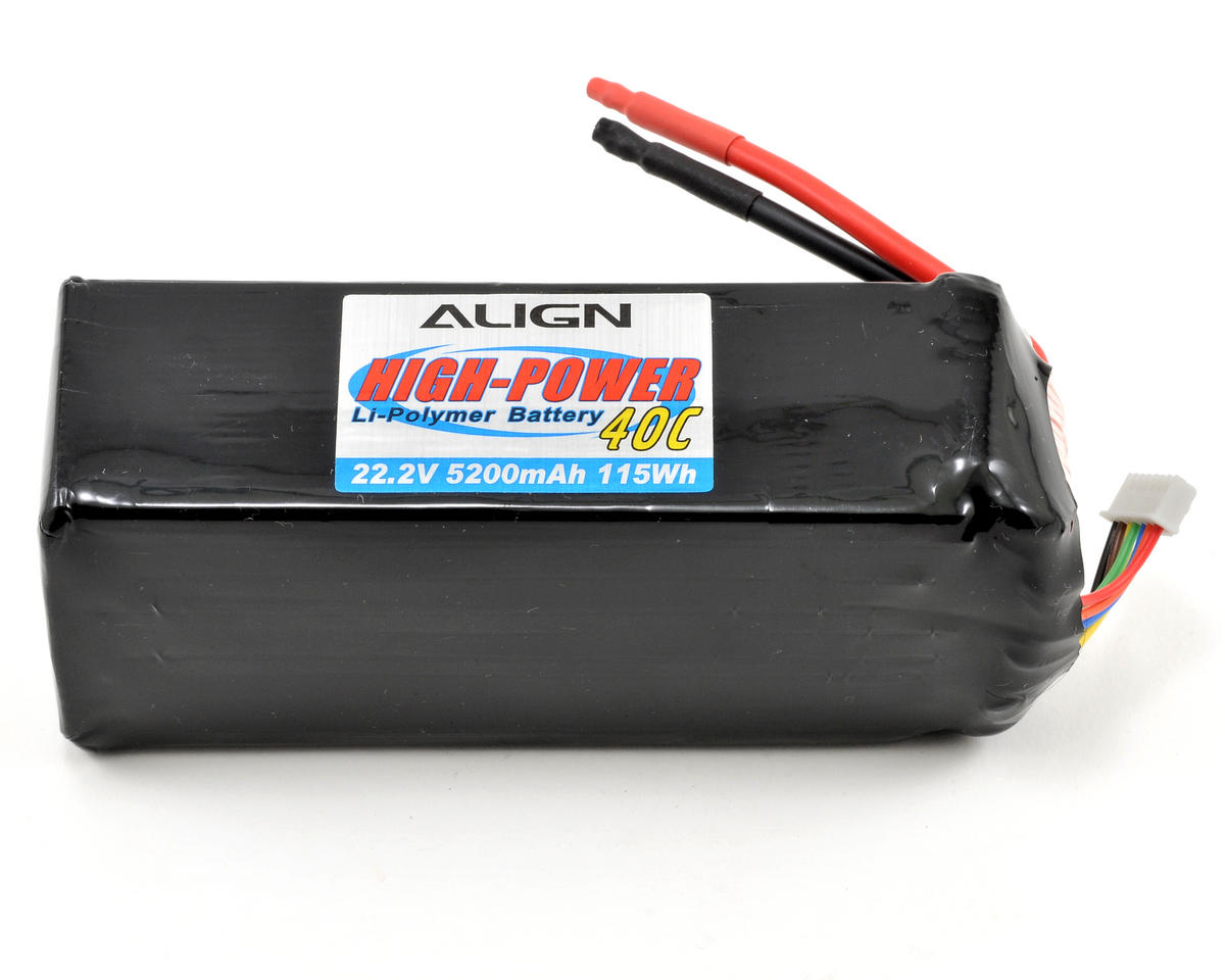 Align 6S2P Li-Poly Battery 40C (22.2V/5200mAh)