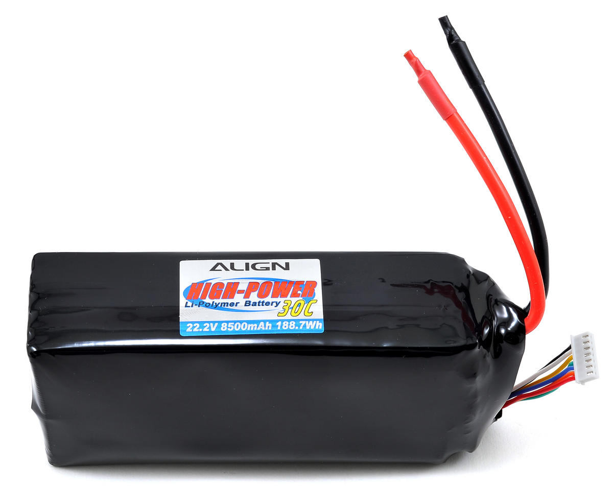 Align 6S High Power LiPo 30C Battery Pack (22.2V/8500mAh)