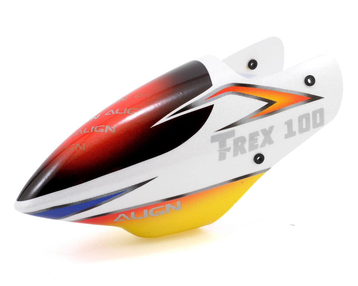 Align T-Rex 100S 100 Painted Canopy (White/Yellow)