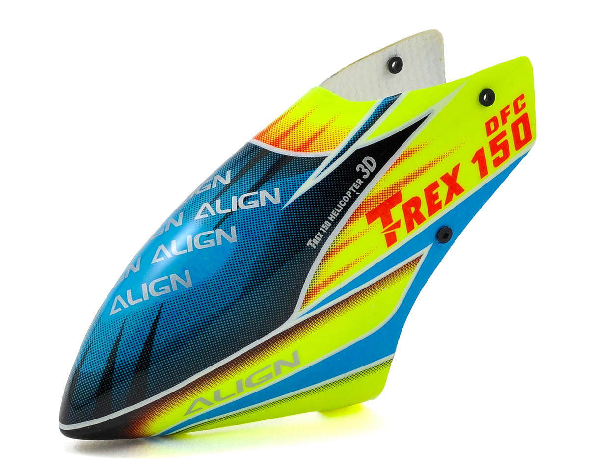 Align 150 Fiberglass Painted Canopy (Neon Green/Blue)