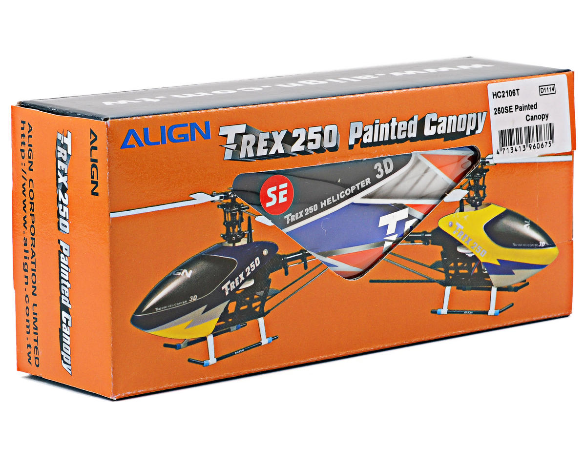 250SE Painted Canopy (Blue/Orange) by Align