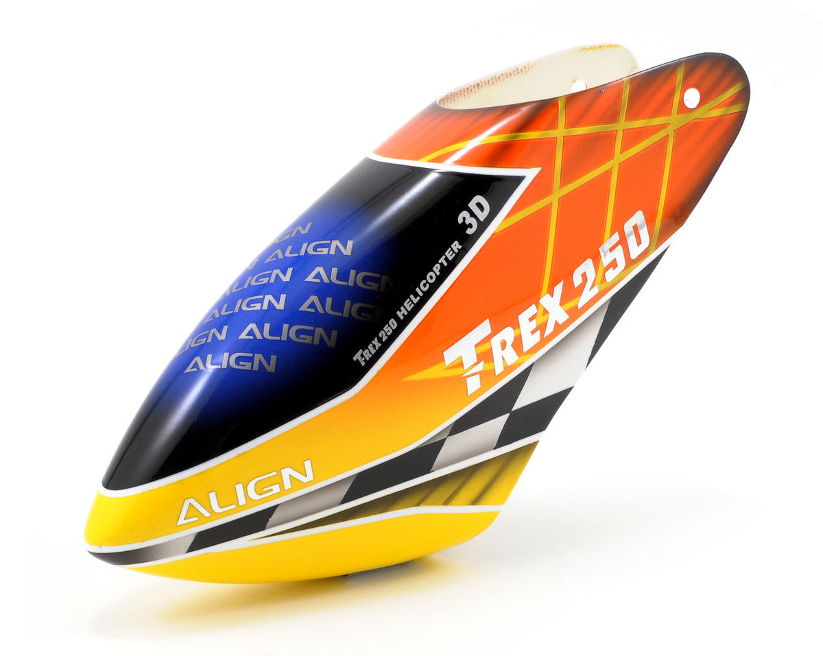 250SE Painted Canopy (Orange/Yellow) by Align