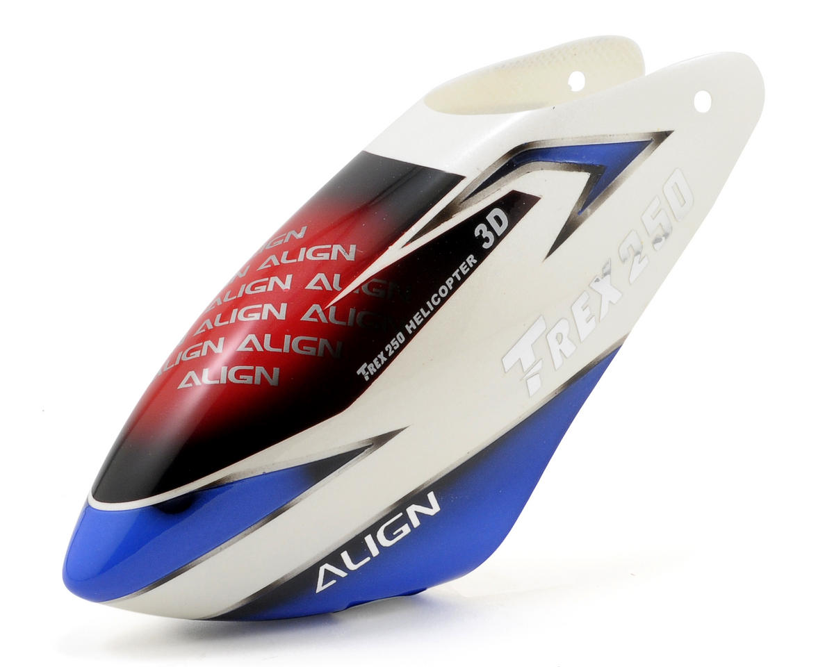 Align T-Rex 250 250SE Painted Canopy (White/Blue)