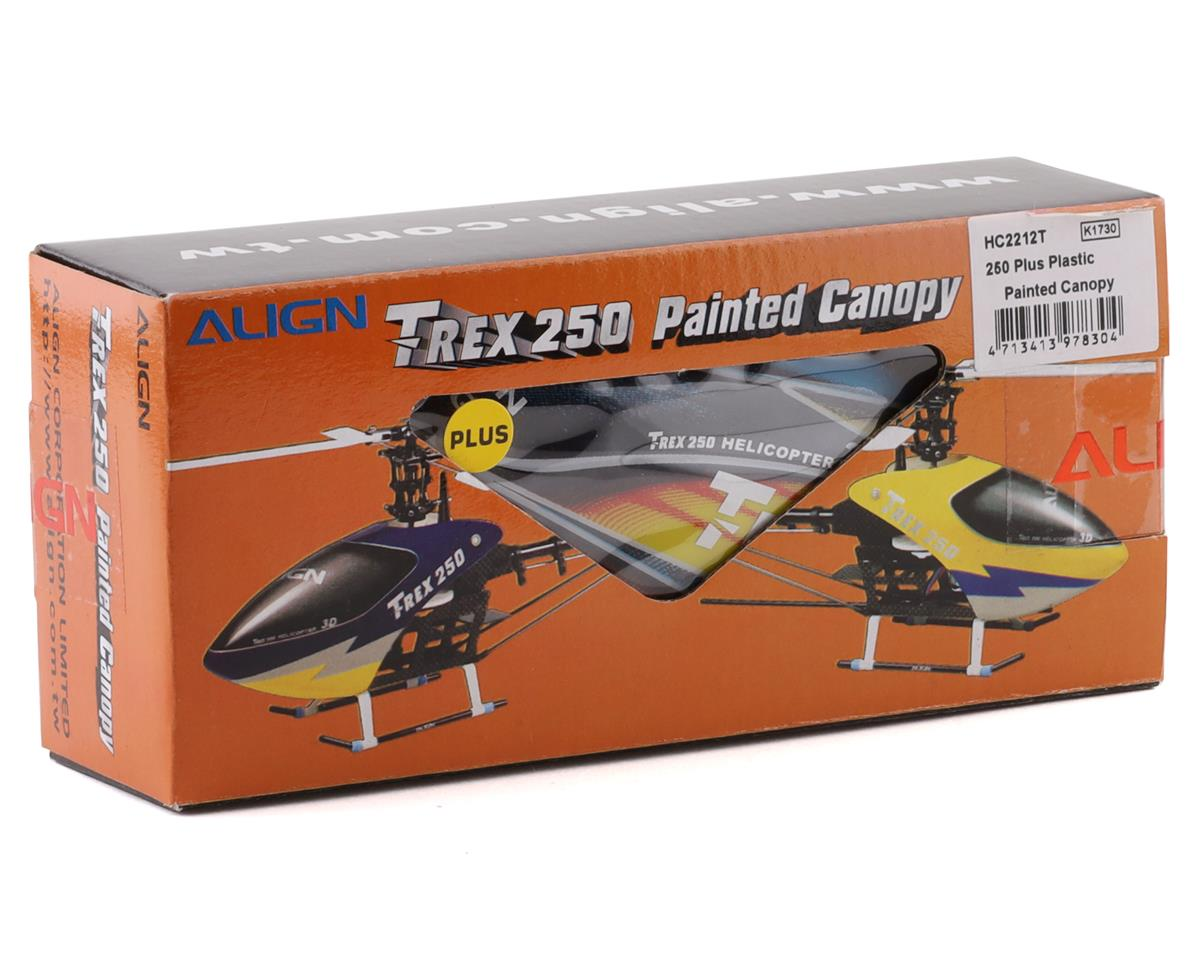 Align 250 Plus Plastic Painted Canopy (Yellow/Blue/Red)