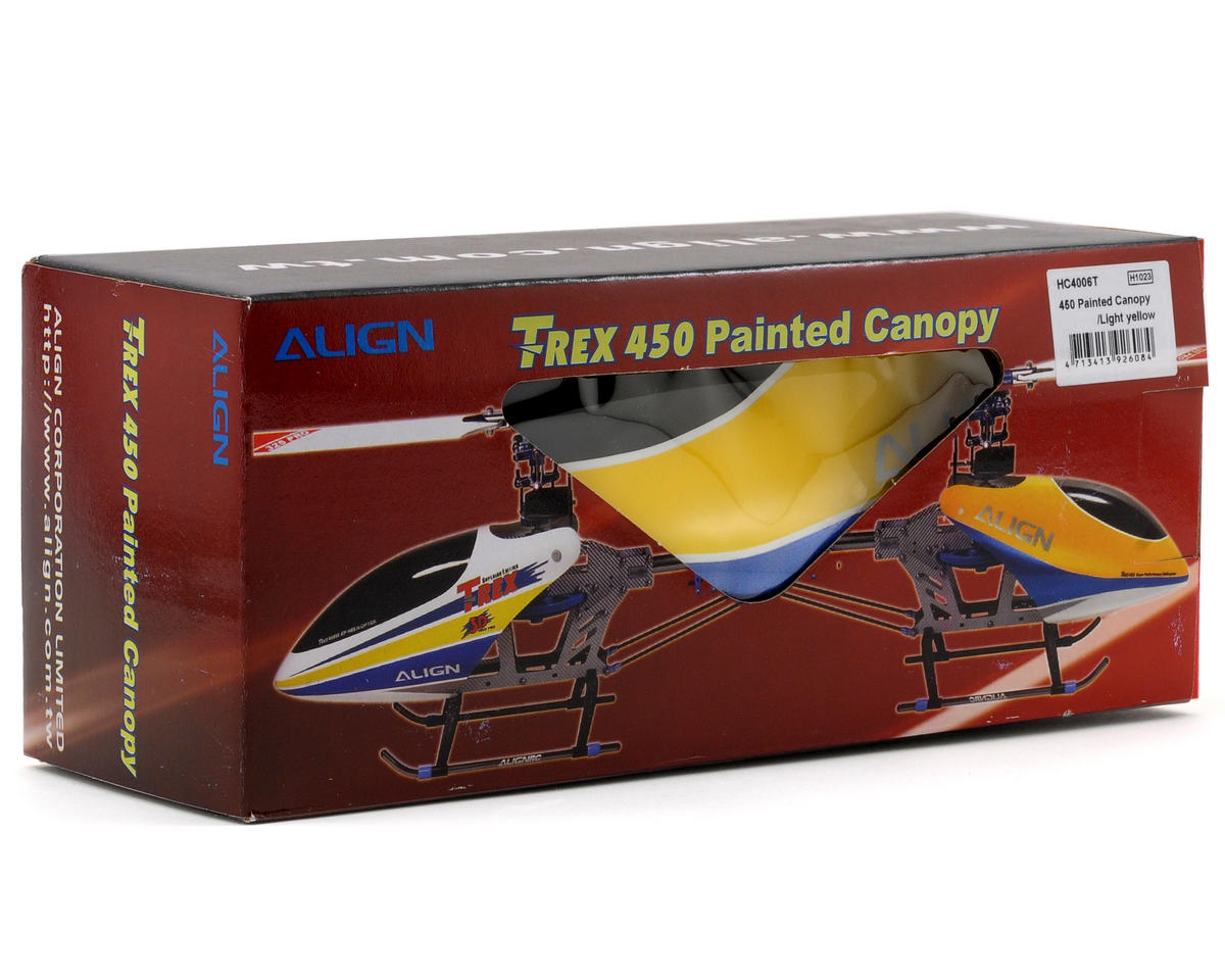Align 450 Pre-Painted Canopy (Light Yellow)