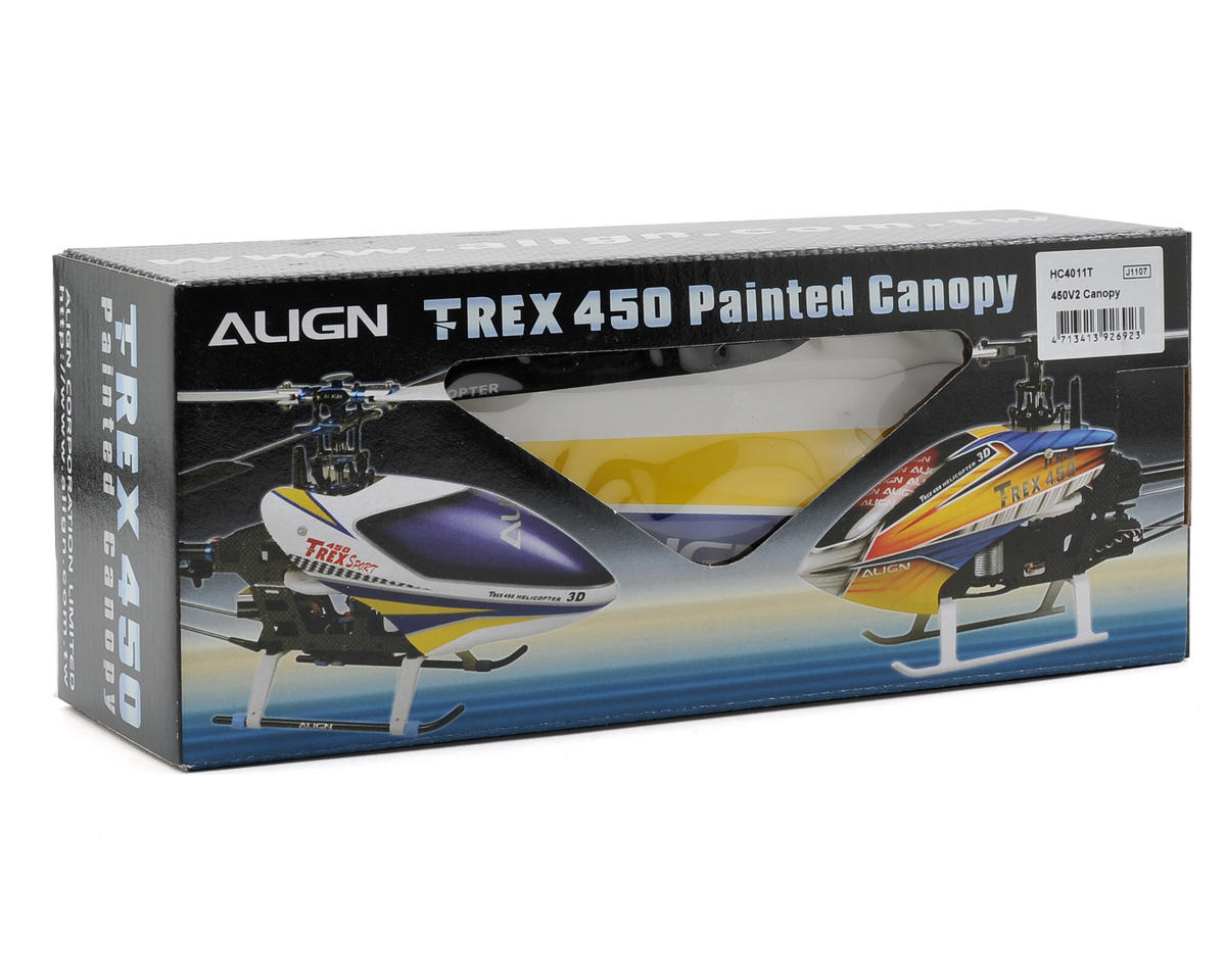 Align 450V2 Painted Canopy (White/Yellow/Blue)