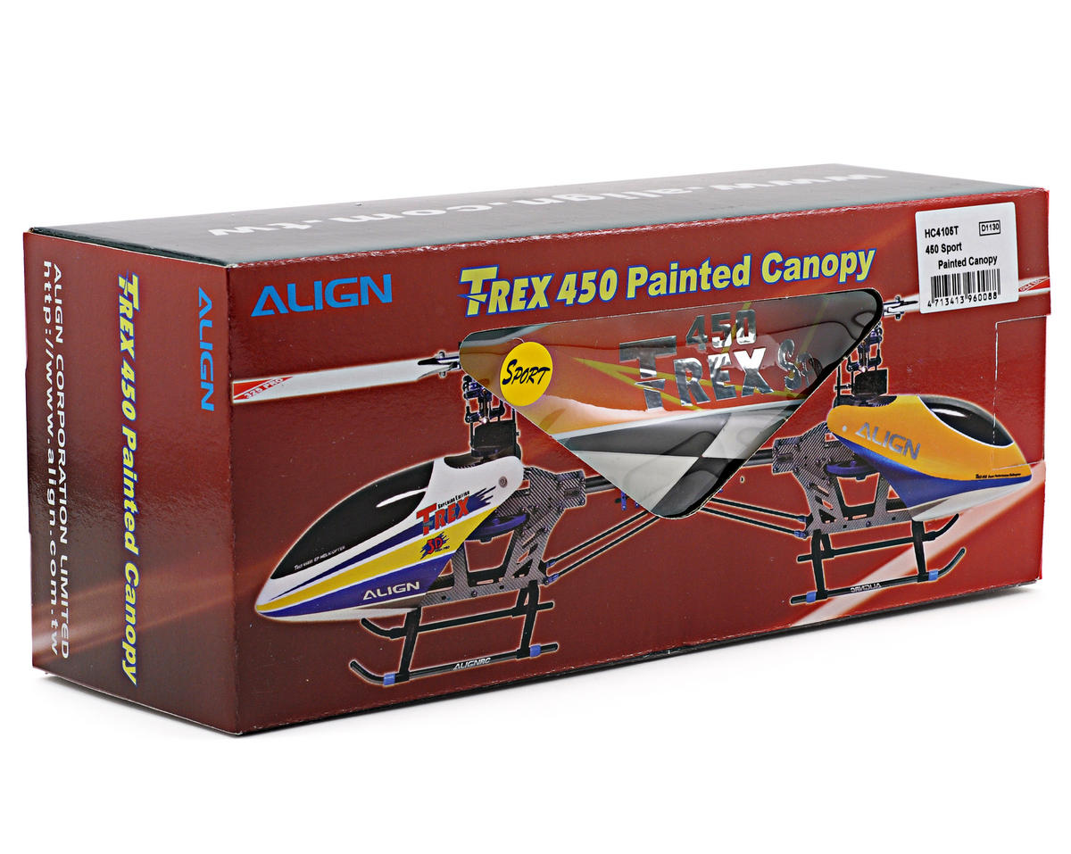 Align 450 Sport Painted Canopy (Orange/Yellow)