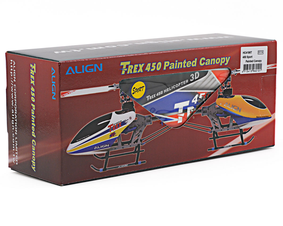 Align 450 Sport Painted Canopy (Blue/Orange)