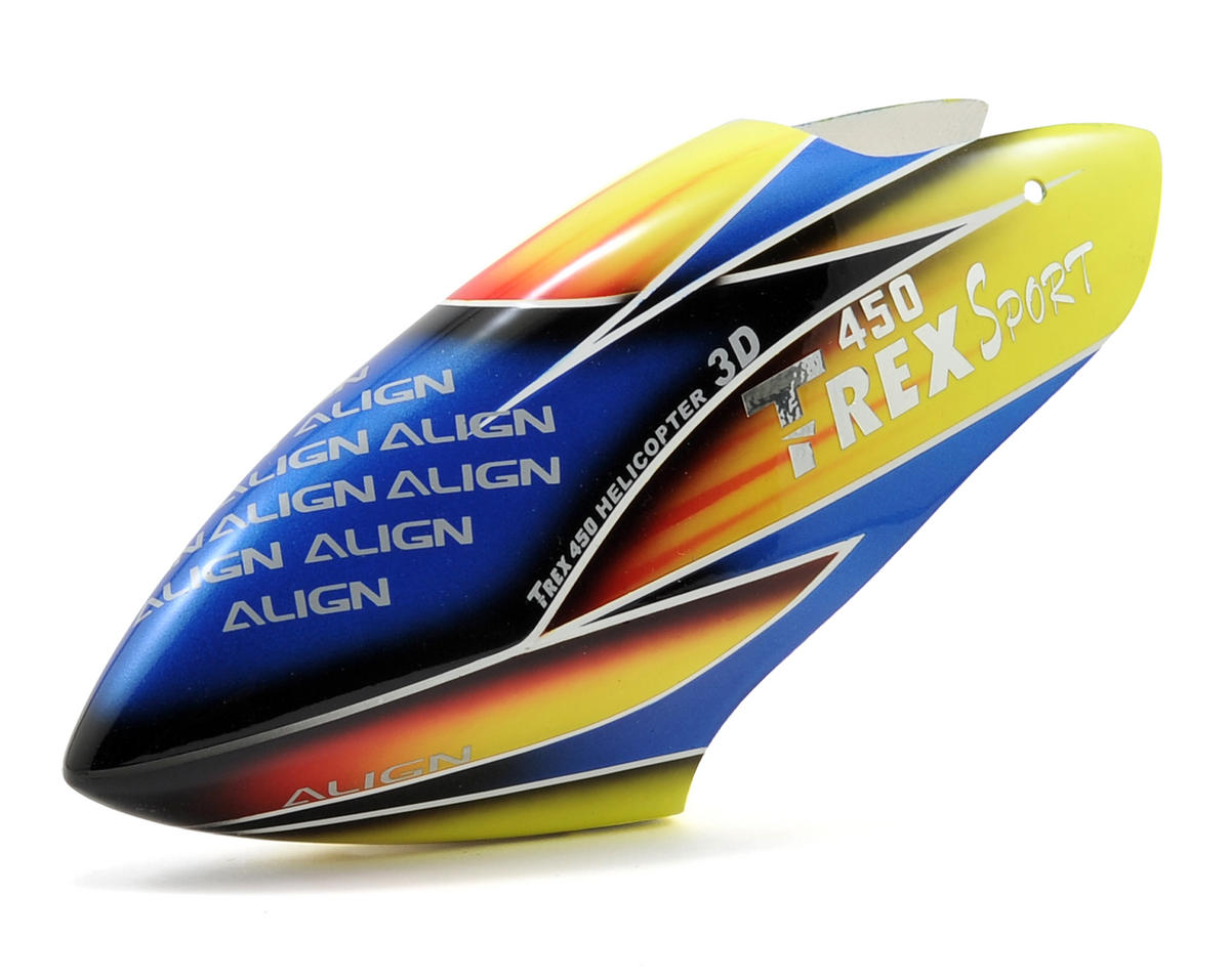 450 Sport V2 Painted Canopy (Yellow/Red/Blue) by Align