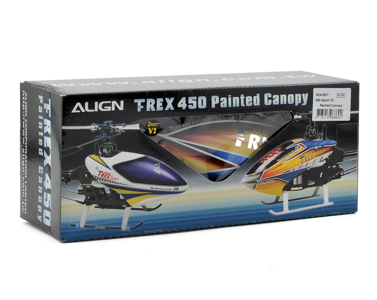 Align 450 Sport V2 Painted Canopy (Yellow/Red/Blue)