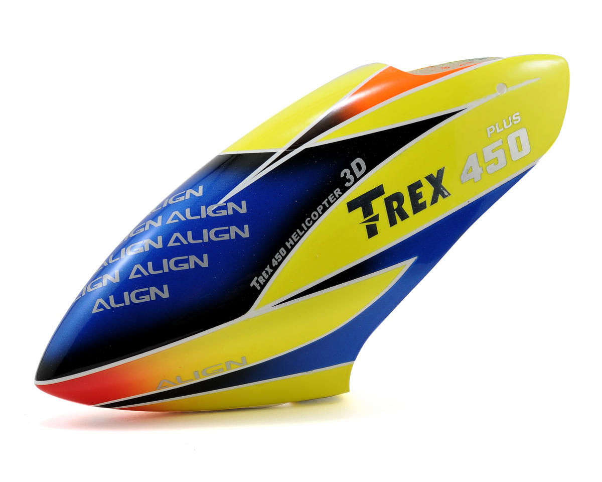 Align T-Rex 450 Sport V2 Plus Painted Canopy (Red/Yellow/Blue)