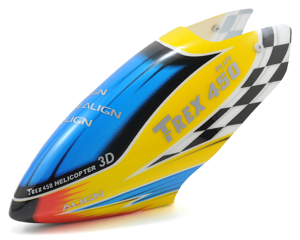 Align 450 Plus Plastic Painted Canopy (Yellow/Blue/Red)