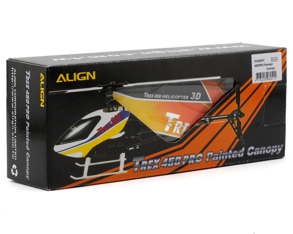 Align 450 Pro Painted Canopy (Red/Yellow)