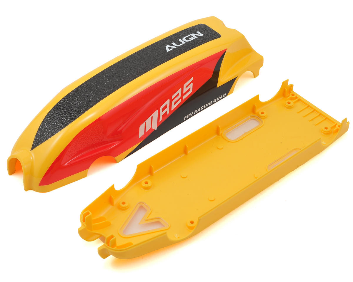 "Align MR25 Painted Canopy ""C"" (Red/Yellow)"