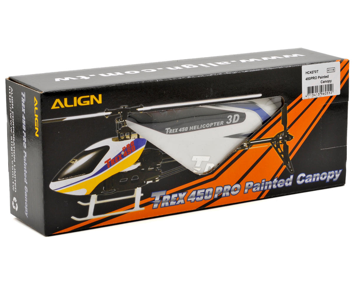 Align 450PRO Painted Canopy (White/Blue)