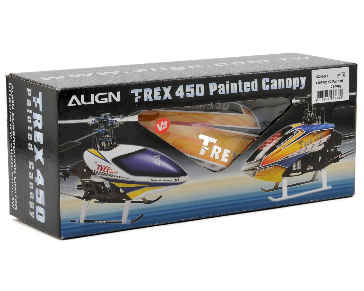Align 450 Pro V2 Painted Canopy (Yellow/Blue)