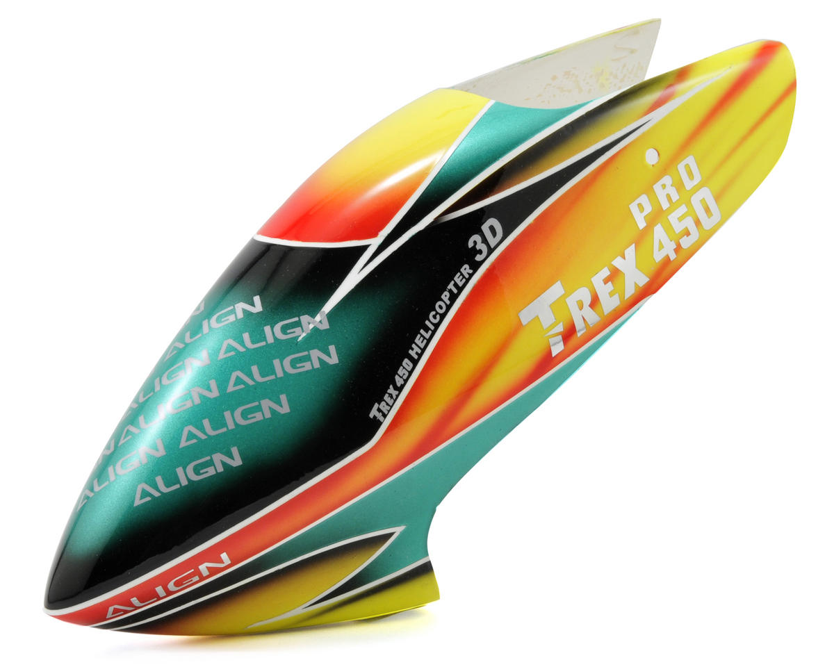 Align T-Rex 450 Pro V2 Painted Canopy (Yellow/Orange/Green)