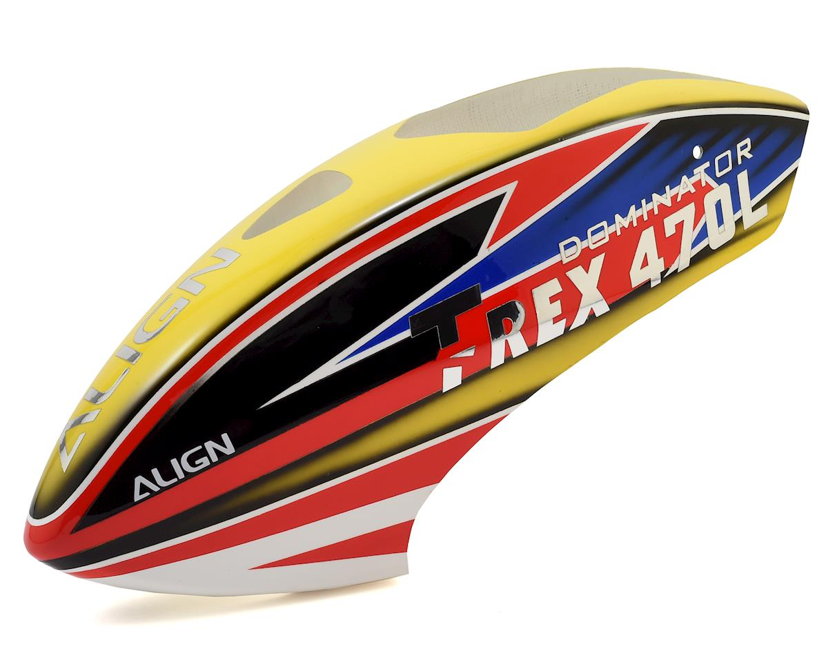 Align 470L Painted Canopy (Yellow/Red/Blue)