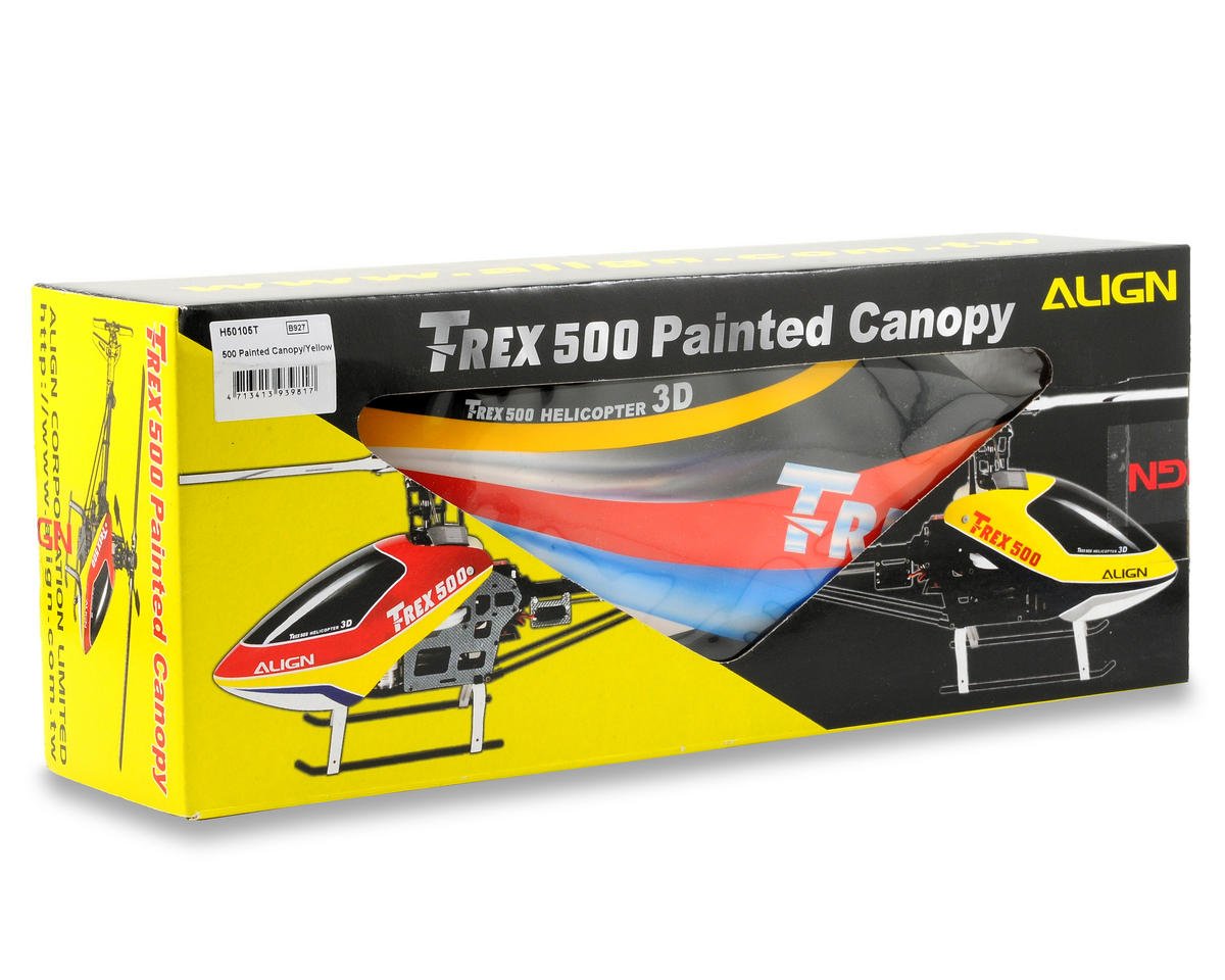 Align T-Rex 500 Painted Canopy (Yellow)