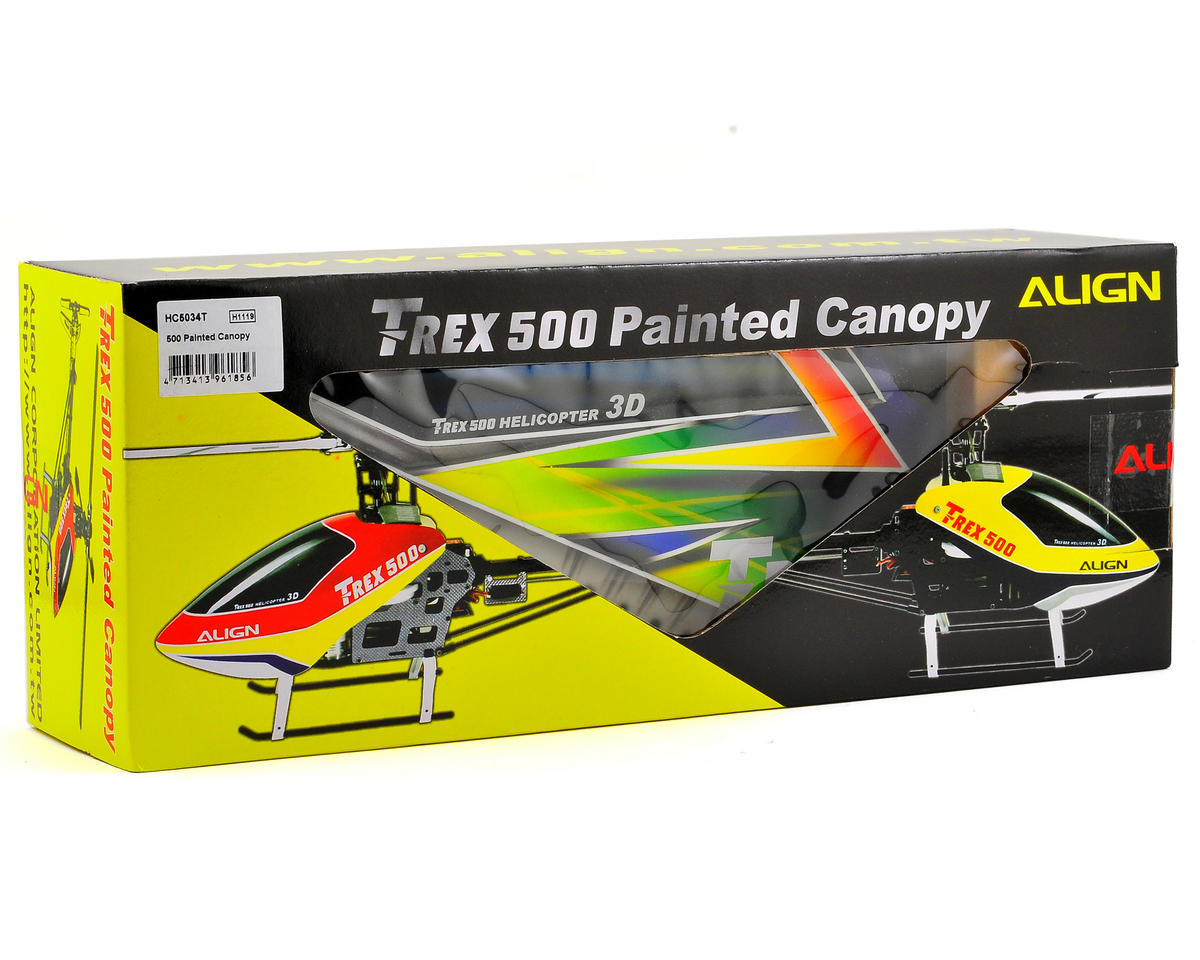 Align 500 Painted Canopy (Blue/Green/Yellow)