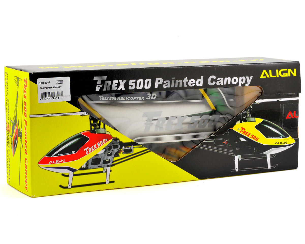 Align 500 Painted Canopy (Yellow/White/Green)