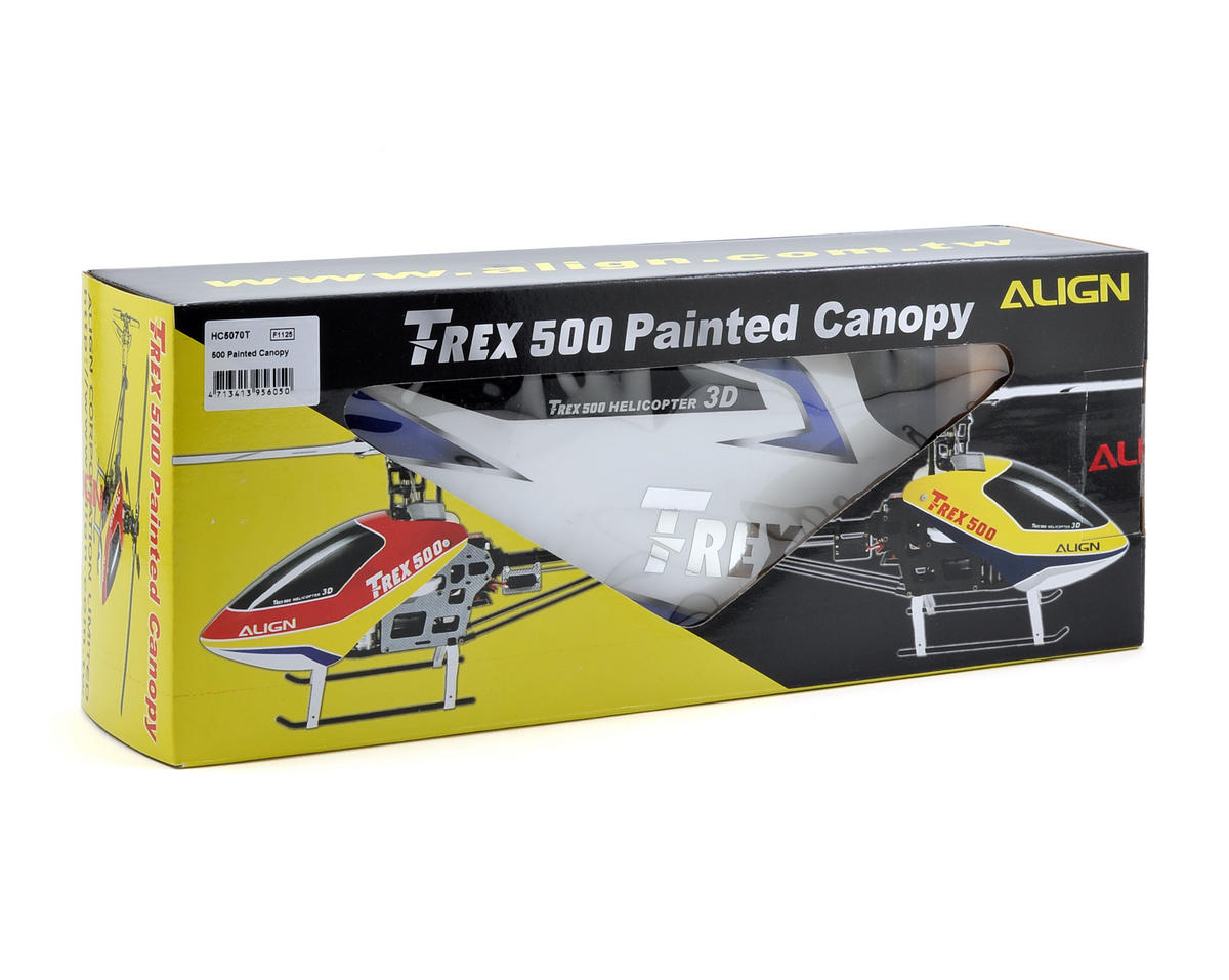Align 500 Painted Canopy (White/Blue)