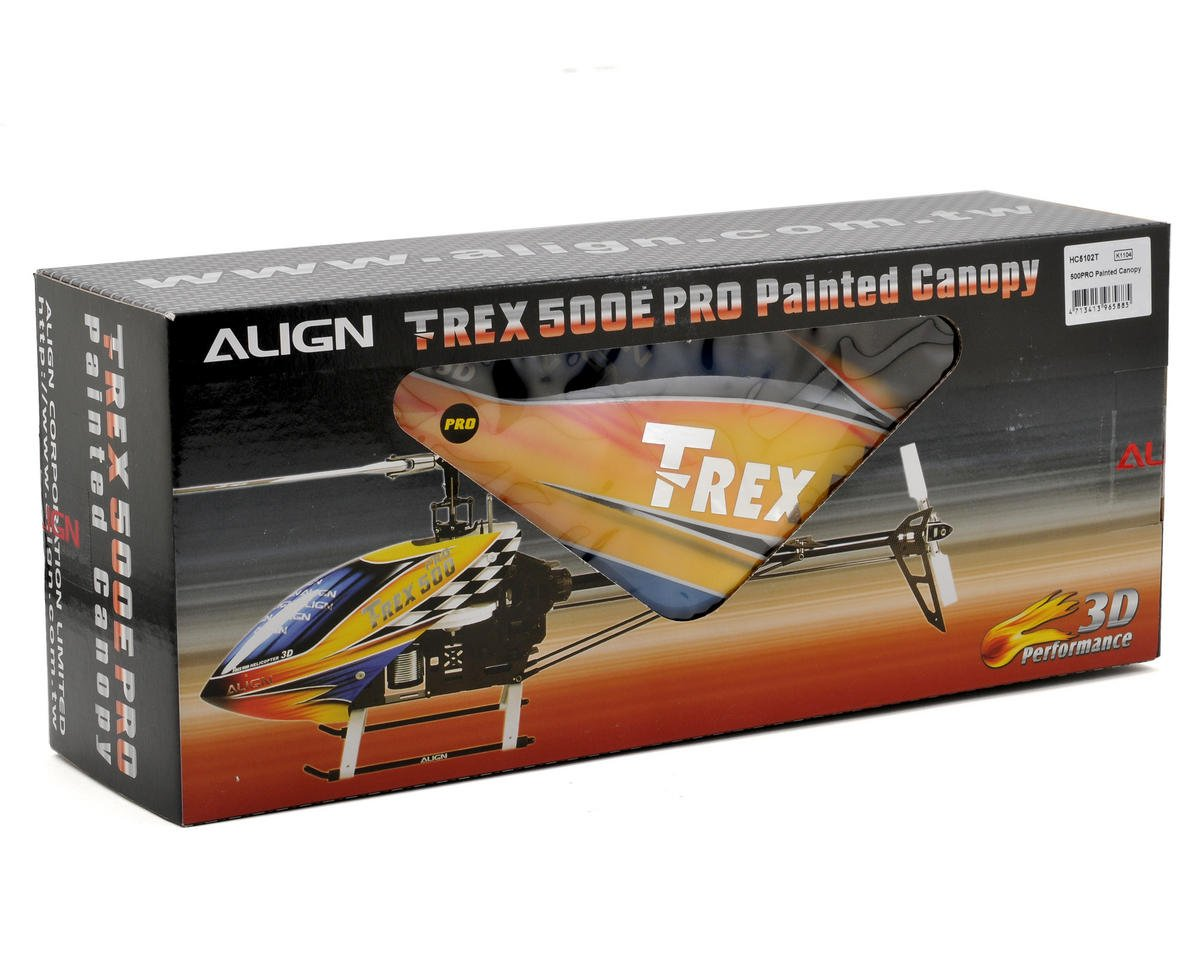 Align 500PRO Painted Canopy (Yellow/Blue)