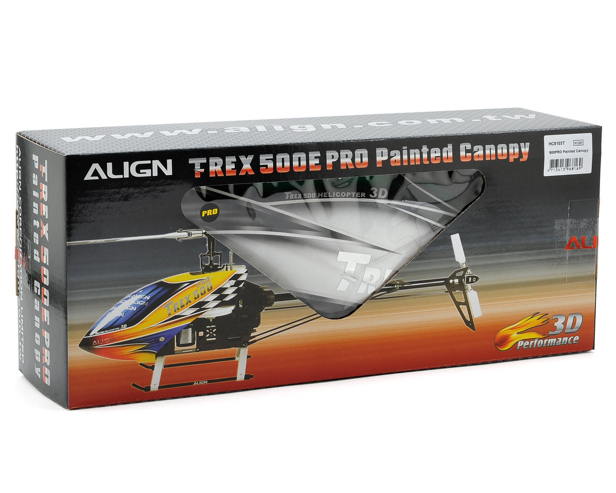 Align 500PRO Painted Canopy (Green/Silver)