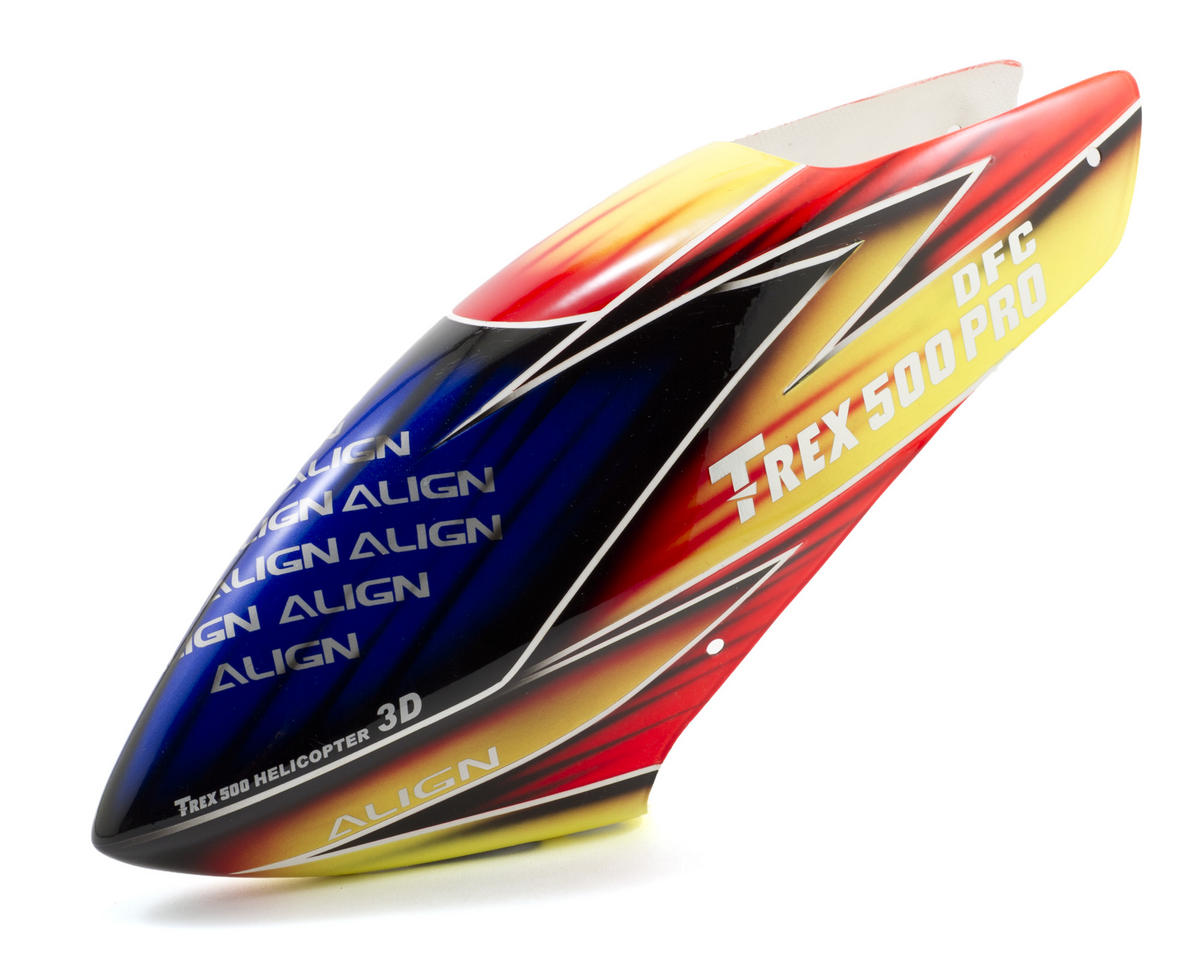 Align 500 Painted Canopy (Blue/Red/Yellow)