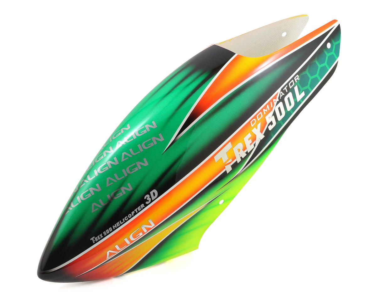 Align T-Rex 500 500L Dominator Painted Canopy (Green/Yellow)