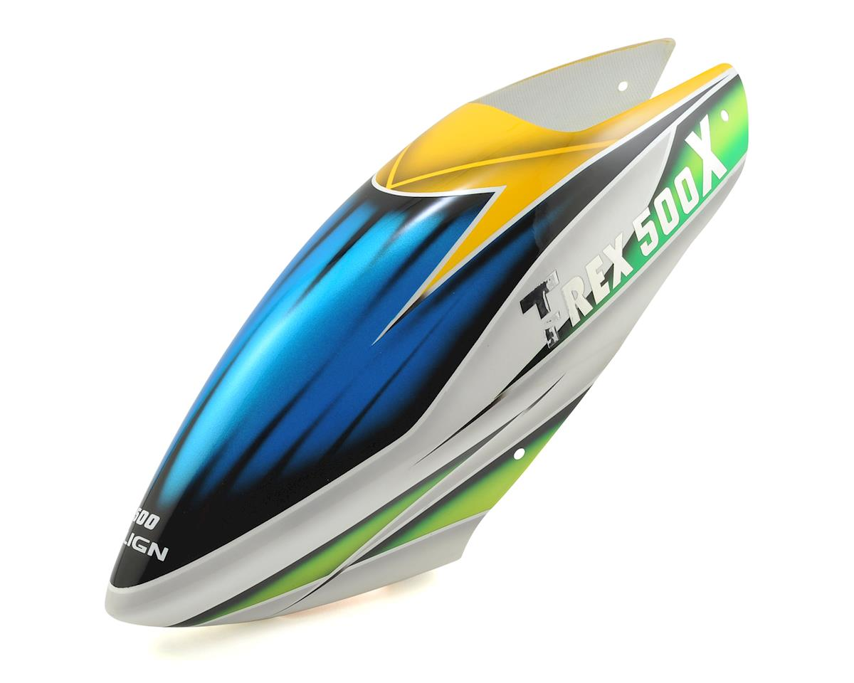 Align Painted Canopy (Green/White/Yellow) (T-Rex 500X)