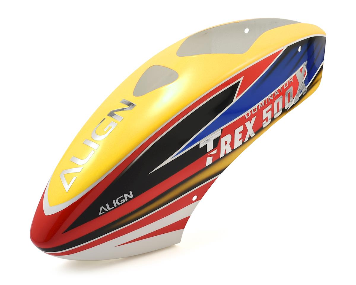 Align 500X Painted Canopy (Yellow/Red/Blue)