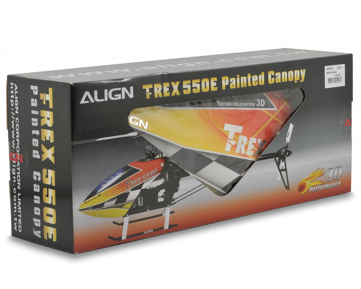 Align 550E Painted Canopy (Orange/Yellow)