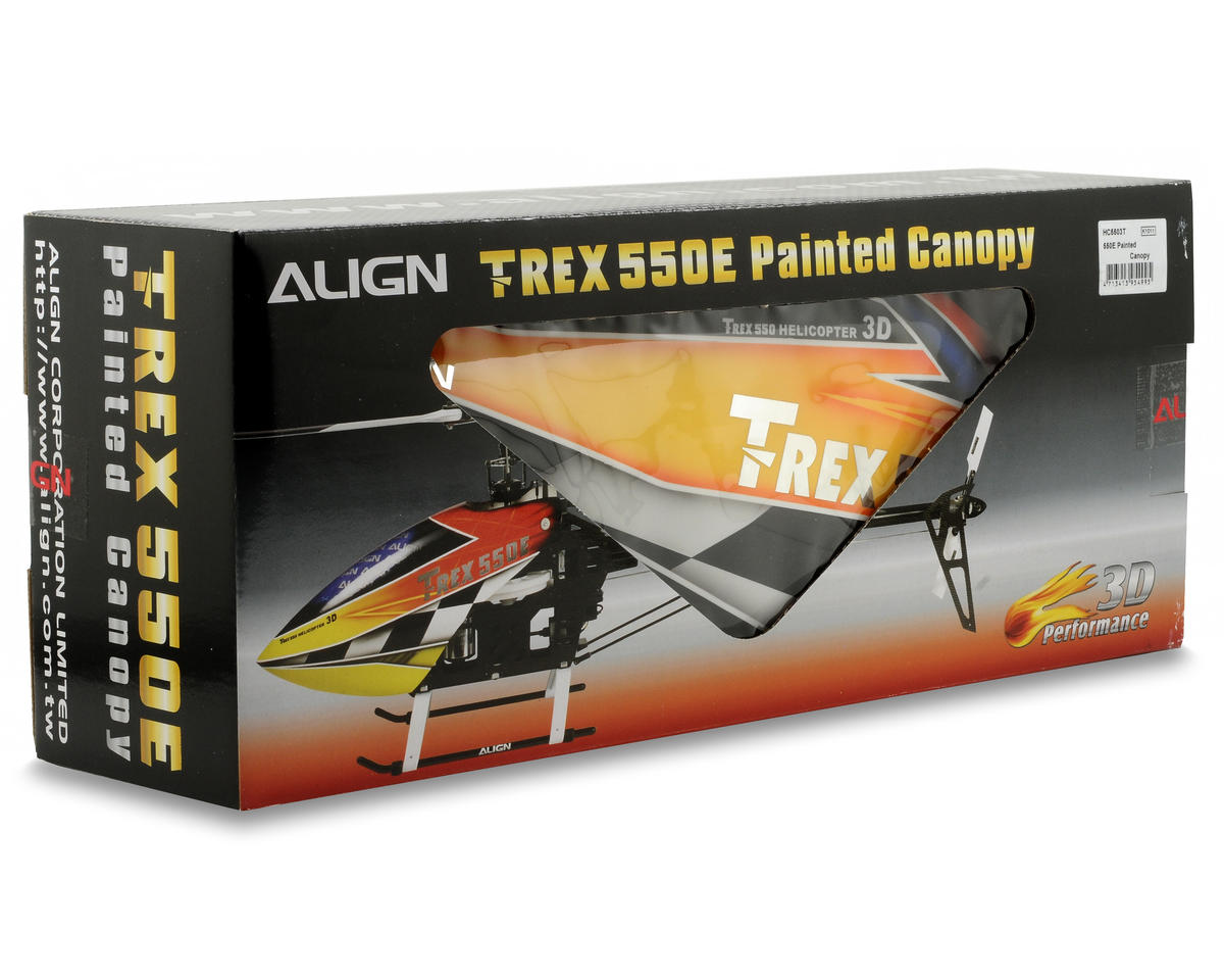 Align 550E Painted Canopy (Yellow/Red)