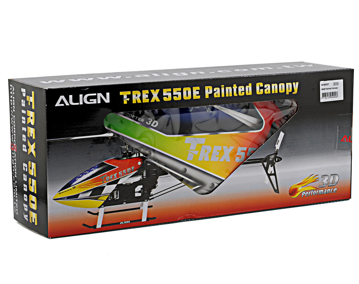 Align 550E Painted Canopy (Red/Yellow/Green)