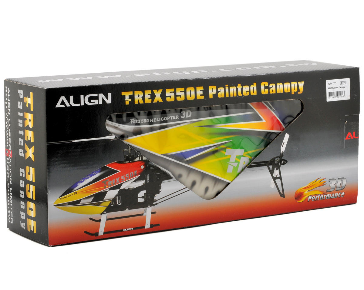 Align 550E Painted Canopy (Blue/Green/Yellow)
