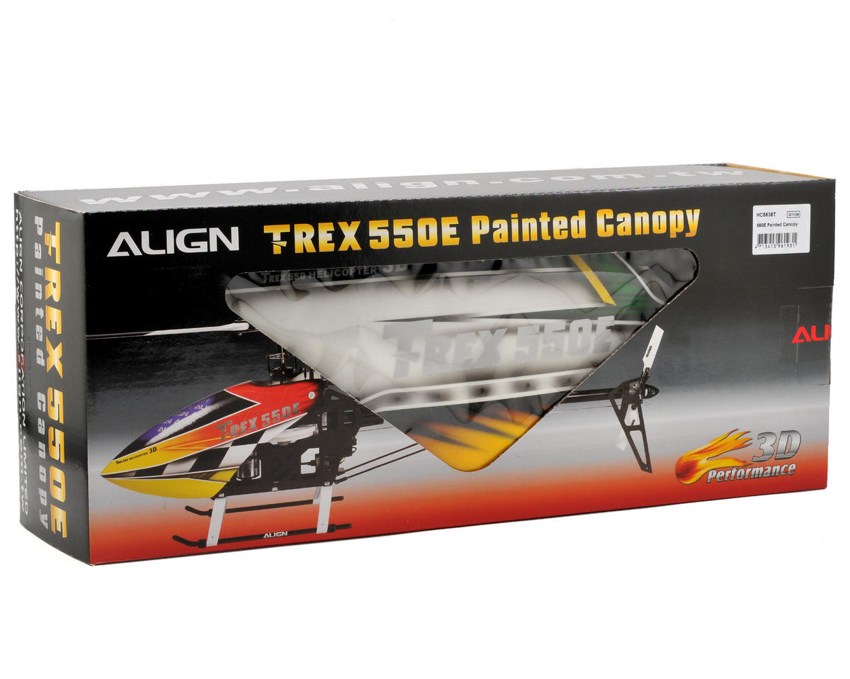 Align 550E Painted Canopy (Green/White/Red)