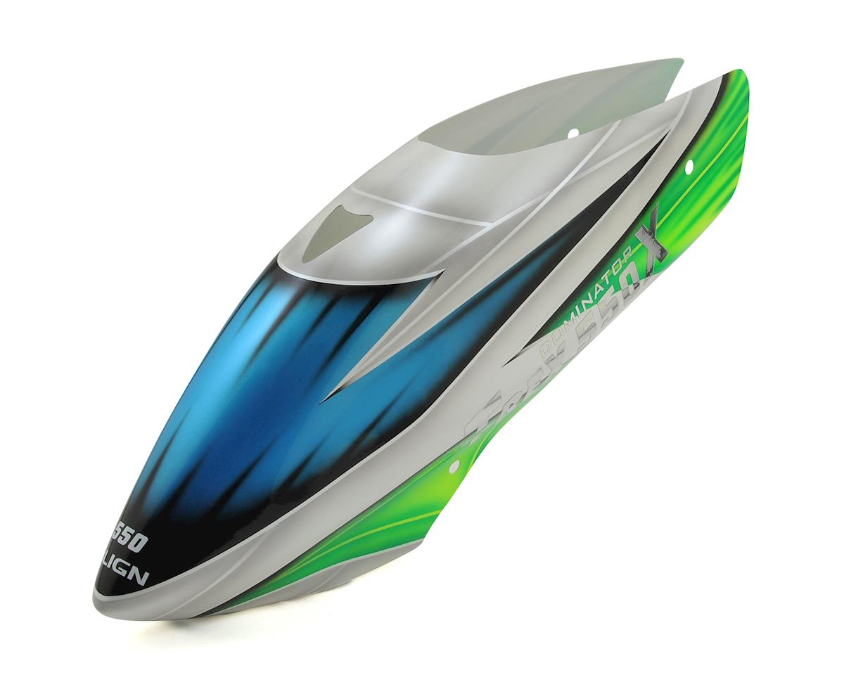 Align T-Rex 550X Painted Canopy (Blue/White/Green) (550X)