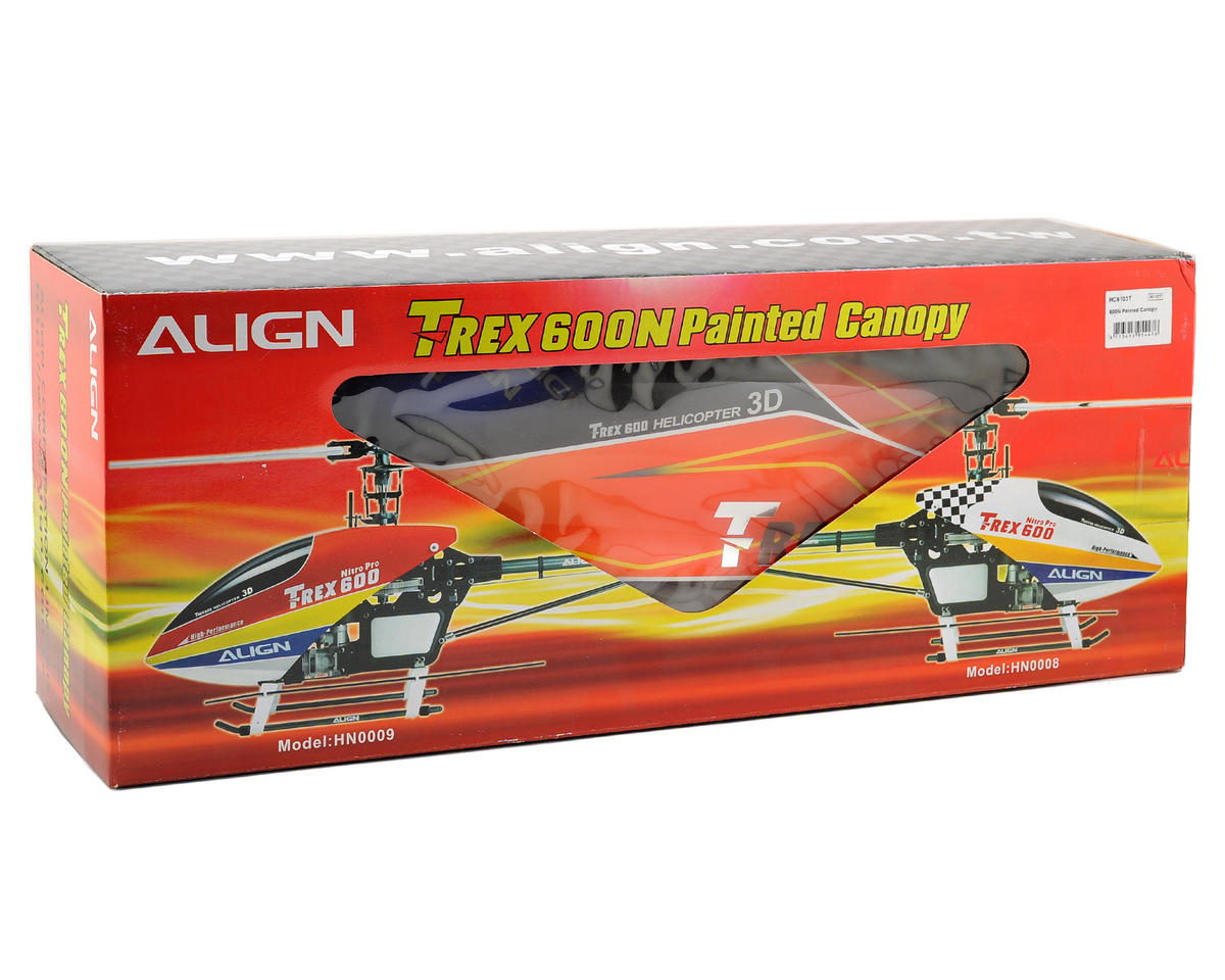 Align 600N Painted Canopy (Orange/Yellow)
